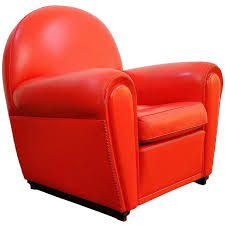 Red Club Chair Creative Of Red Leather Club Chair With Vintage Pair Of Red