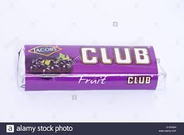 fruit club a fruit flavoured club chocolate biscuit on a white
