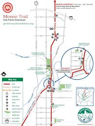 Map Indianapolis Monon Trail Maplets