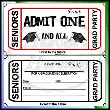 graduation party ticket style invitation 0 63 heavens harmony