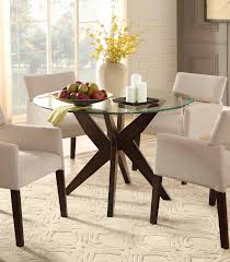 homelegance massey round glass top dining table espresso 5491 48