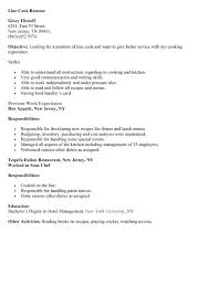 cook resume examples resume for cook it security objective resume