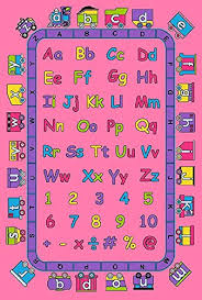 Abc Area Rugs Rug Abc In Pink Area Rug 5 X 7 Children Area