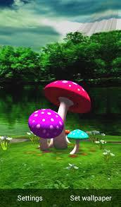 wallpaper 3d mushroom 3d mushroom hd live wallpaper 1mobile com