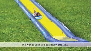 the world u0027s longest backyard water slide youtube