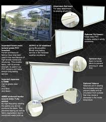 clear cafe blinds external alfresco clear pvc outdoor patio blinds