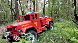jeep brush truck reo m35 brush truck auf patrouille cross rc hc4 youtube