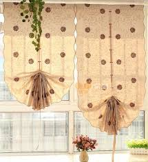 Pull Up Curtains Japanese Style Cotton Material Pull Up Balloon Curtain
