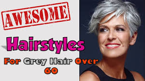 hair styles for over 60 s with thick waivy hair hairstyles for grey hair over 60 youtube