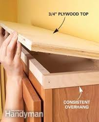 Adding Shelves To Kitchen Cabinets How To Add Shelves Above Kitchen Cabinets Family Handyman