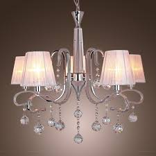 Crystal Chandelier Dining Room Modern Crystal Chandeliers With 5 Lights White Ceiling Light