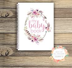 baby record book baby record book girl floral watercolour basic of all