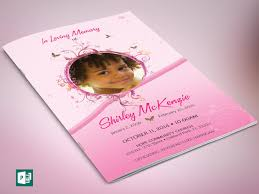 sle of funeral program pink princess funeral program publisher template