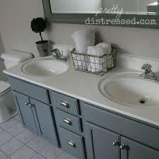 Diy Bathroom Vanity Makeover by Bathroom Oak Vanity Makeover With Latex Paint Hometalk