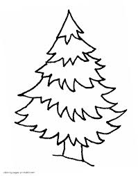 spruce in the winter forest coloring page