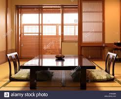 chabudai tea table and zaisu legless chairs at traditional