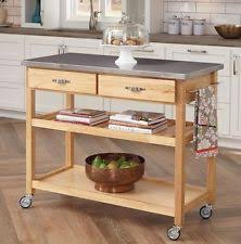 stainless steel kitchen island on wheels home styles stainless steel kitchen islands carts ebay