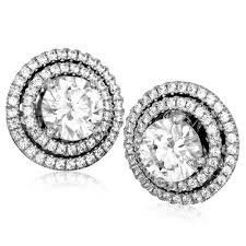 earring jackets g 18k white gold diamond halo earring jackets