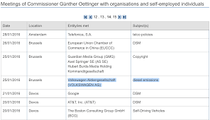 Free Sle Letter Of Employment Certification Oettinger Left No Trace Of Vw Dieselgate Meeting