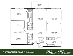 house floor plans 4 bedroom 3 bath 2000 square feet and custom