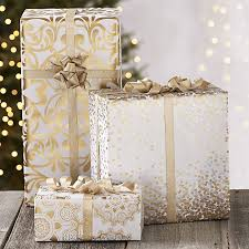 metallic gift wrap metallic confetti gift wrap in wrapping paper crate and barrel