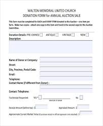 11 donation receipt form sample free sample example format
