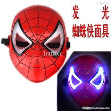 Halloween Costumes Iron Man Wholesale Quality Led Luminous Dark Mask Iron Man Spider