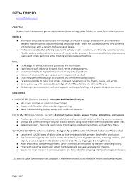 Sample Resume Objectives For Production Operator by Production Operator Curriculum Vitae Virtren Com