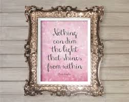 nothing can dim the light that shines from within nothing can dim the light that shines from within canvas quote