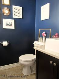 Pink And Gold Bathroom by Navy Powder Room Reveal Navy Pink Powder Room And Diy Ideas