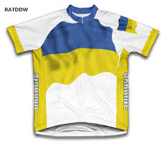 Ukraine Flag Ukraine Flag Cycling Jersey For Men And Women Mountain Bicycle
