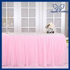 Pink Table Skirt by Tutu Tulle Table Skirts Baby Shower Decoration For High Chair Home