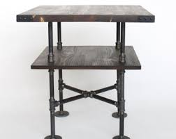 Rustic Side Table Rustic Coffee Table Square Industrial Coffee Table Pipe