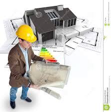 Energy Efficient Home Construction Architect Planning An Energy Efficient Home Royalty Free Stock