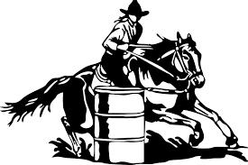aliexpress com buy large barrel racing cowgirl rodeo horse car 1pc bedroom wall stickers decor infinity symbol word love vinyl art