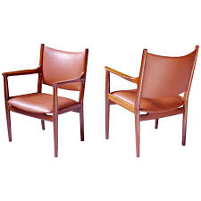 Leather Armchairs Vintage Hans Wegner Jh513 Mahogany And Leather Armchair Vintage Danish