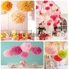 colorful paper pompones garland decoration 6 15cm 19pcs