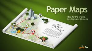 paper maps paper maps the stage for your 3d maps and icons