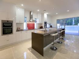 One Wall Kitchen Designs With An Island Single Wall Kitchen With A Long Narrow Island For Extra Counter