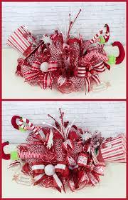 elf centerpiece christmas centerpiece elf legs decor top hat