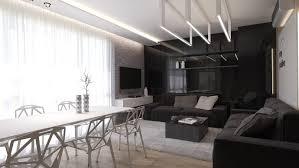 living room simple black decor pattern zig zag motif black