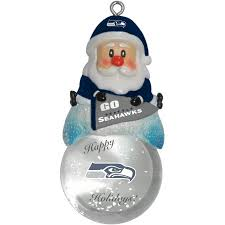 seattle seahawks santa snow globe ornament simply seattle