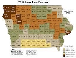 Iowa State Campus Map Card 2017 Isu Land Value Survey Results