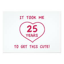 funny 25th birthday invitations u0026 announcements zazzle