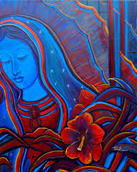 yolanda m lopez portrait of the artist as the virgin of guadalupe