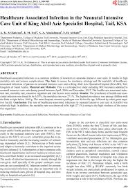 healthcare associated infection in the neonatal intensive care