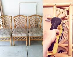 sarah m dorsey designs refinishing rattan chairs tutorial
