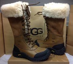 ugg australia adirondack chestnut lace up winter boots size 5