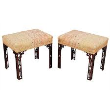 Chinese Chippendale Bench Pair Of Chinese Chippendale Style Stools U2013 Jayne Thompson Antiques