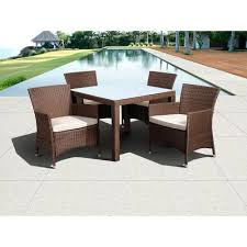 All Weather Wicker Patio Dining Sets atlantic contemporary lifestyle grand new liberty deluxe brown 5